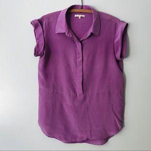 Madewell Broadway & Broome Purple Silk Top